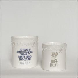 Handgemaakt porseleinen theelicht