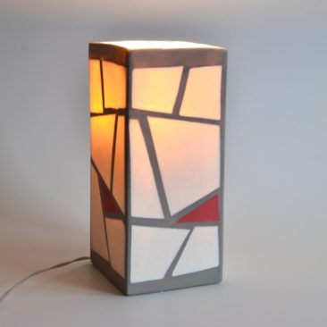 staande lamp ingekleurd porselein